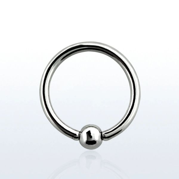 "316L Steel Captive Bead Ring 16g 1/4"""