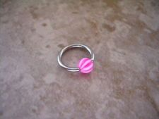 316L Steel Captive with Stripe Ball 16g