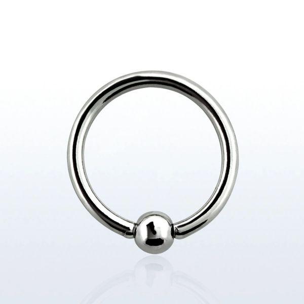 "316L steel captive bead ring 14g 1/4"""