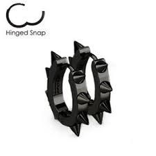 316L Surgical Stainless Steel IP Hoop Earrings with Spike