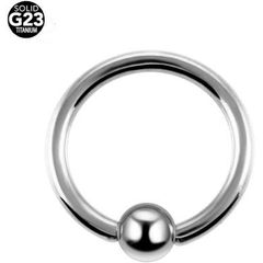 Grade 23 Titanium Captive Bead Ring 14g