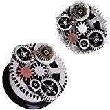 316L Surgical Steel Steampunk Gear Menagerie Plug 2g