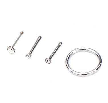 18g 4 pack of nose rings