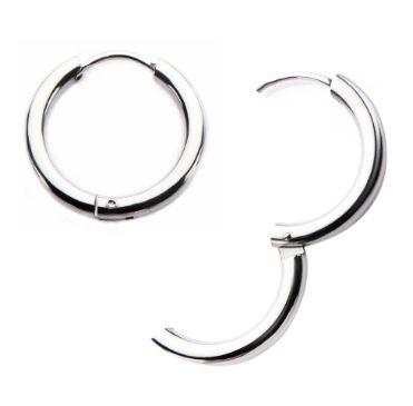 Stainless Steel Hoop Earring pair