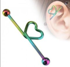 Titanium IP Heart loop industrial rainbow