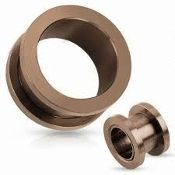 bronze ip screw tunnel 14g