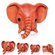 "Sano Wood Elephant Plug 1/2"""