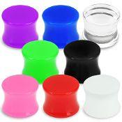 Acrylic Solid Color Saddle Plug 4g