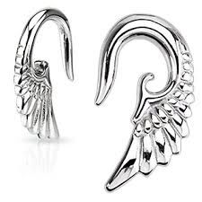 316L Surgical Steel Angel Wing Hanger 14g