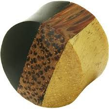 Triple Wood Saddle Plug 5/8""