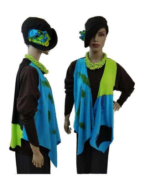 Turquoise & lime green limited vest