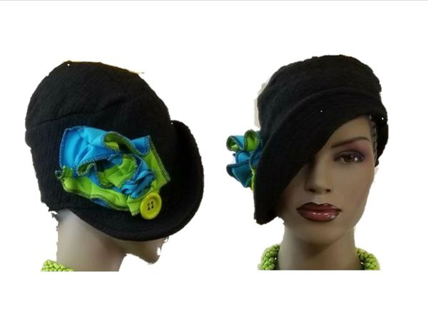 Babbitt Brim black & lime green...SOLD!