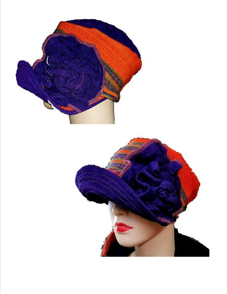 Babbitt brim - burnt orange - purple- burgundy