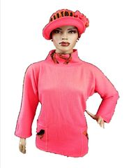 Coral organic cotton tunic - Babbitt Brim sold separately- wearable art!