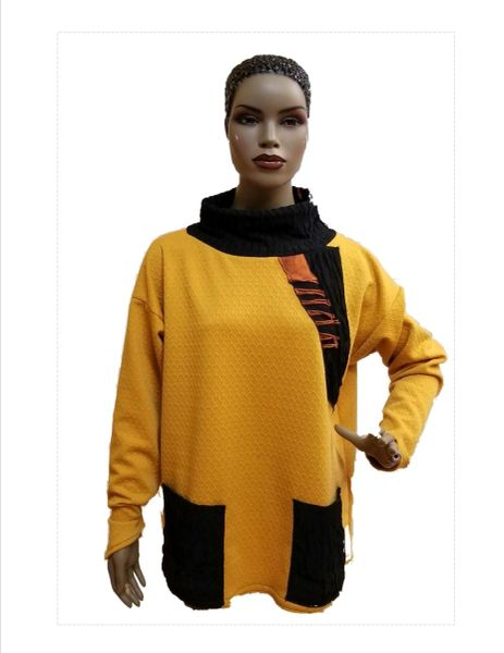 Gold & black one of a kind easy pullover