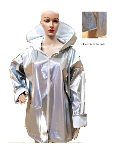 Silver Rain zip slicker...SOLD!