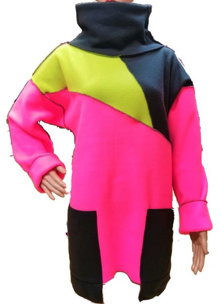 Colorful fleece pullover