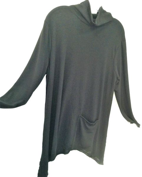 Soft black mock neck tunic...SOLD!