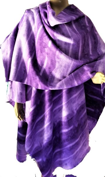 Shades of purple fleece wrap