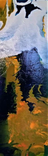 Snow capped mountain abstract 18 x 36