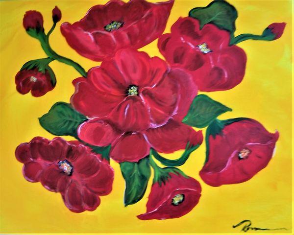 Poppies 16 x 20 acrylic