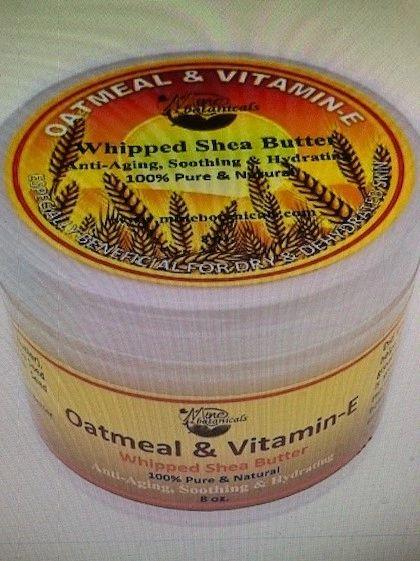 Oatmeal & Vitamin E Whipped Shea Butter