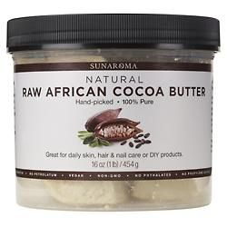Raw African Cocoa Butter - 16 oz