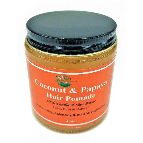 Coconut and Papaya Hair Pomade - Mine Botanicals Brand
