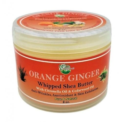 Orange Ginger Whipped Shea Butter - Mine Botanicals Brand