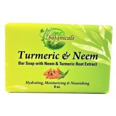 Turmeric and Neem Bar Soap with Neem & Turmeric Root Extract Bar Soap - Mine Botanicals
