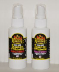Buck Lures made from 100% pure whitetail urine. 4oz All-Season Dual Pack