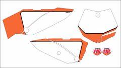 KTM 65 2009-2015 Numberplate Decals PG3