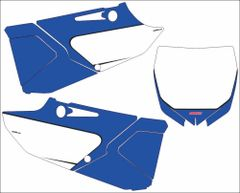 Yamaha YZ125/250 2015+ YZ250X 2016 Numberplate Decals PG3