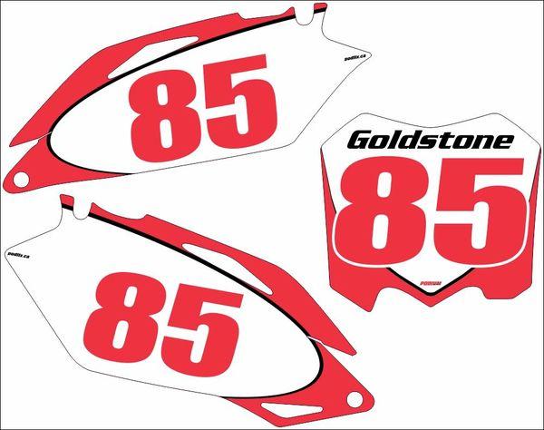 Honda 09-12 CRF450R 10-13 CRF250R PG2 Numberplate Decals