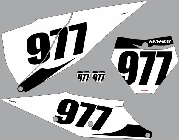 KTM SX/SXF Full Size 2019 2020 PG32 Numberplate Decals