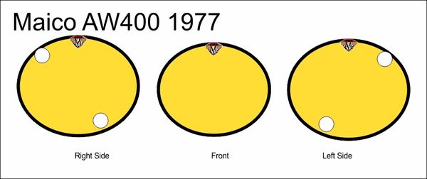 Maico AW400 1977 Numberplate Decals