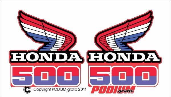 Honda CR500R 1985 Rad Shroud Reproduction Decals