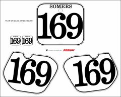 Honda 1985-86 CR125/250/500 PG1 Numberplate Decals