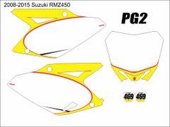 Suzuki 2008-2017 RMZ450 PG2 Numberplate Decals
