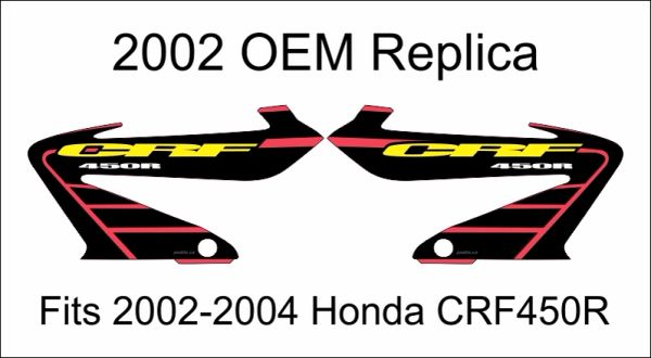 Honda 2002 CRF450R Replica Rad Decals