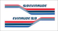 Evinrude 15 or 9.9 Outboard Hood Decals