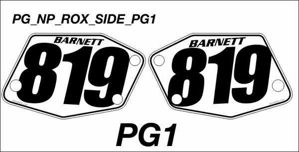 Rox Powermadd PG1 Side Numberplate Decals