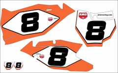 KTM SX/SXF Full Size 2016-2018 PG3 Numberplate Decals
