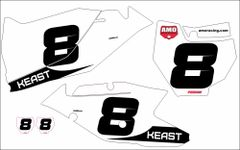 KTM SX/SXF Full Size 2016-2018 PG32 Numberplate Decals