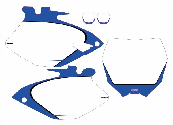 Yamaha YZF250/450 2006-2009 PG2 Numberplate Decals