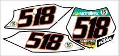 KTM Full Size SX/SXF 2011-2012 Euro Numberplate Decals
