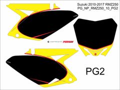 Suzuki 2010-2017 RMZ250 PG2 Numberplate Decals