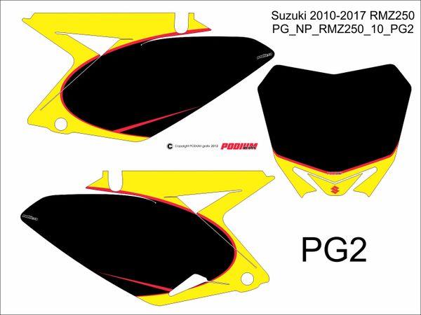 Suzuki 2010-2017 RMZ250 PG2 Numberplate Decals