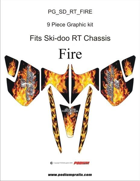 Ski-doo Mach Z 1000 FIRE Graphics