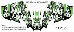 Arctic Cat Sno Pro 600 2008-2011 Sled Wrap TRIBAL SPLASH